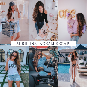 instagram recap, spring fashion trends, summer fashion | Instagram Recap by popular US life and style blog, The Sweetest Thing: collage image of various Instagram pictures.