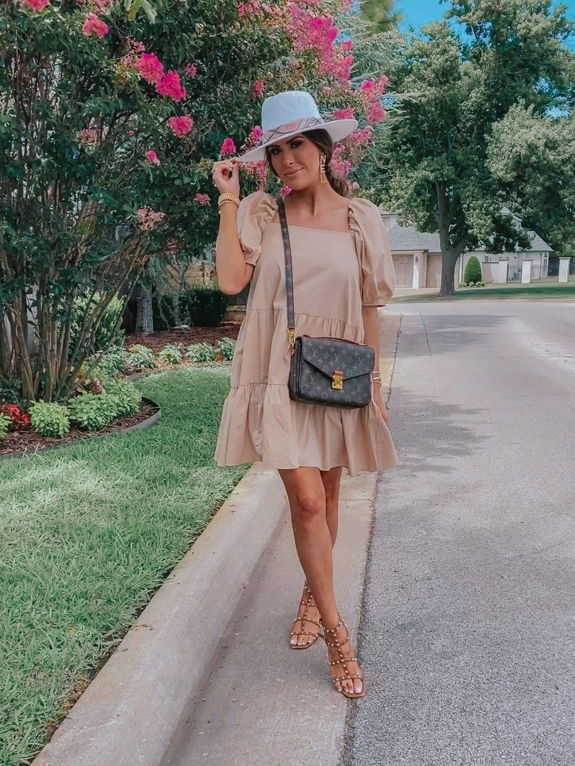 Instagram Recap by popular US life an style blog, The Sweetest Thing: image of Emily Gemma standing outside and wearing a H&M dress, Valentino shoes, Chanel earrings, Cartier bracelets, Alessandra Bailey hat, Rolex watch and carrying a Louis Vuitton bag.
