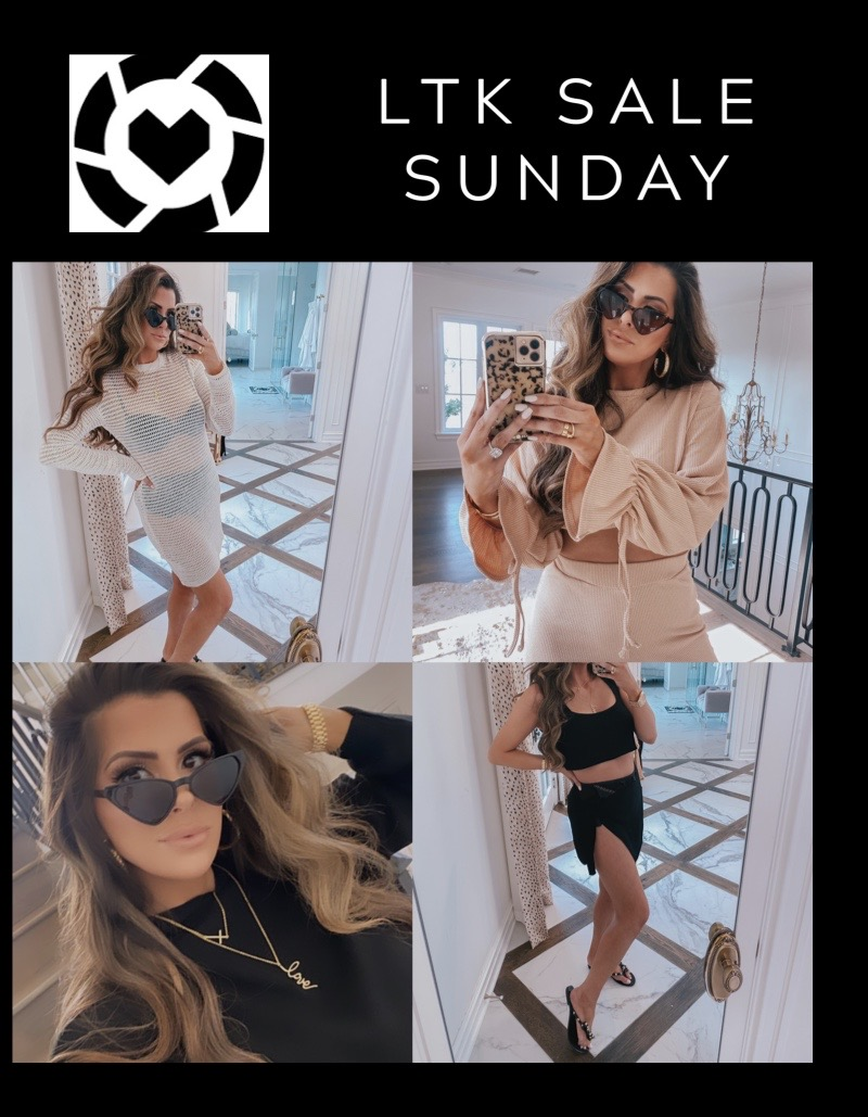 Like To Know It by popular US fashion blog, The Sweetest Thing: collage image of Emily Gemma wearing various Like to Know it outfits and accessories.