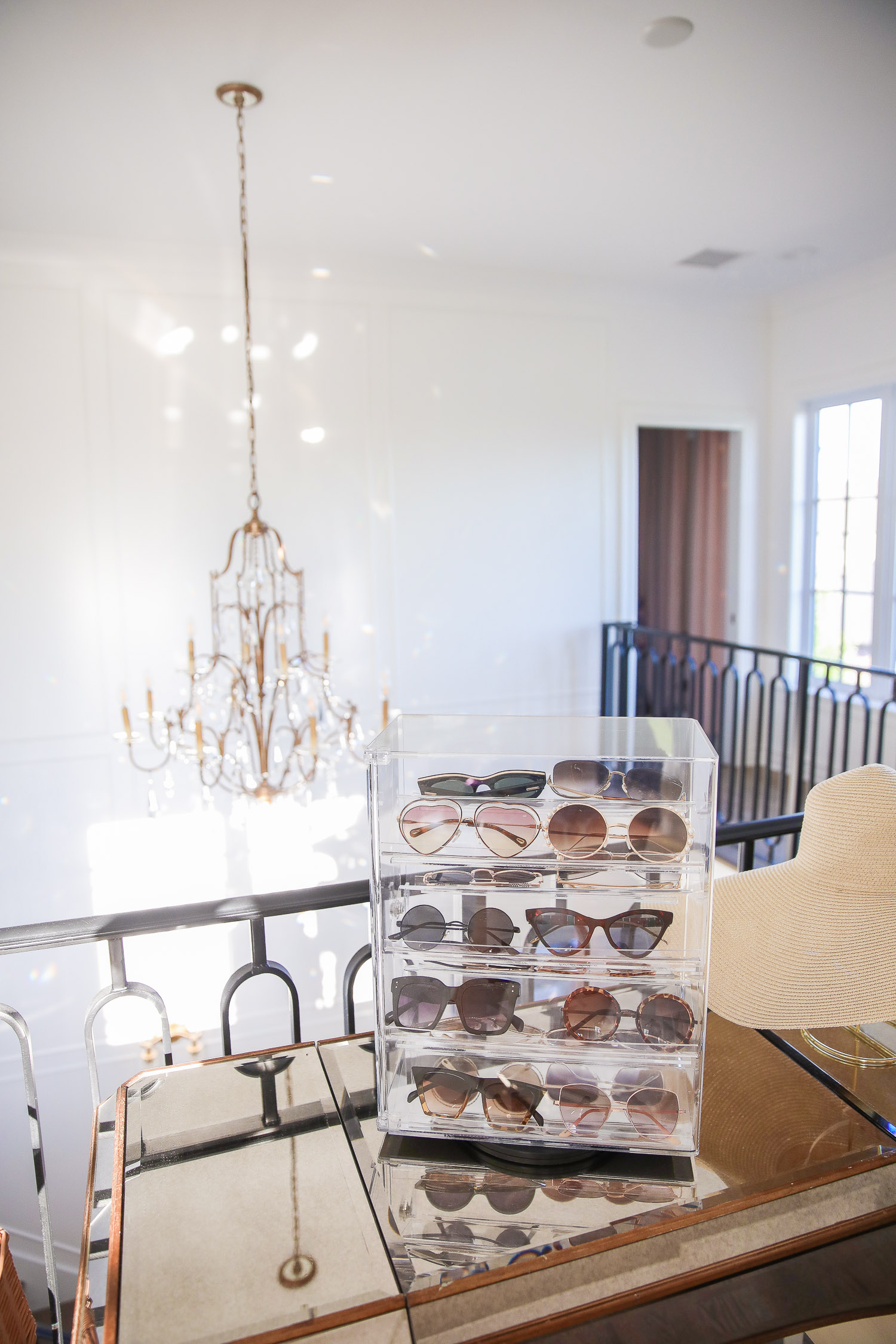 amazon must haves summer 2020, amazon home decor blog post, amazon luxury must haves, two story closet pinterest, emily gemma, closet organization | Amazon Favorites by popular US life and style blog, The Sweetest Thing: image of a Amazon MOOCA Lockable Showcase Rotating Acrylic Display Stand with 4 Removable Shelves.