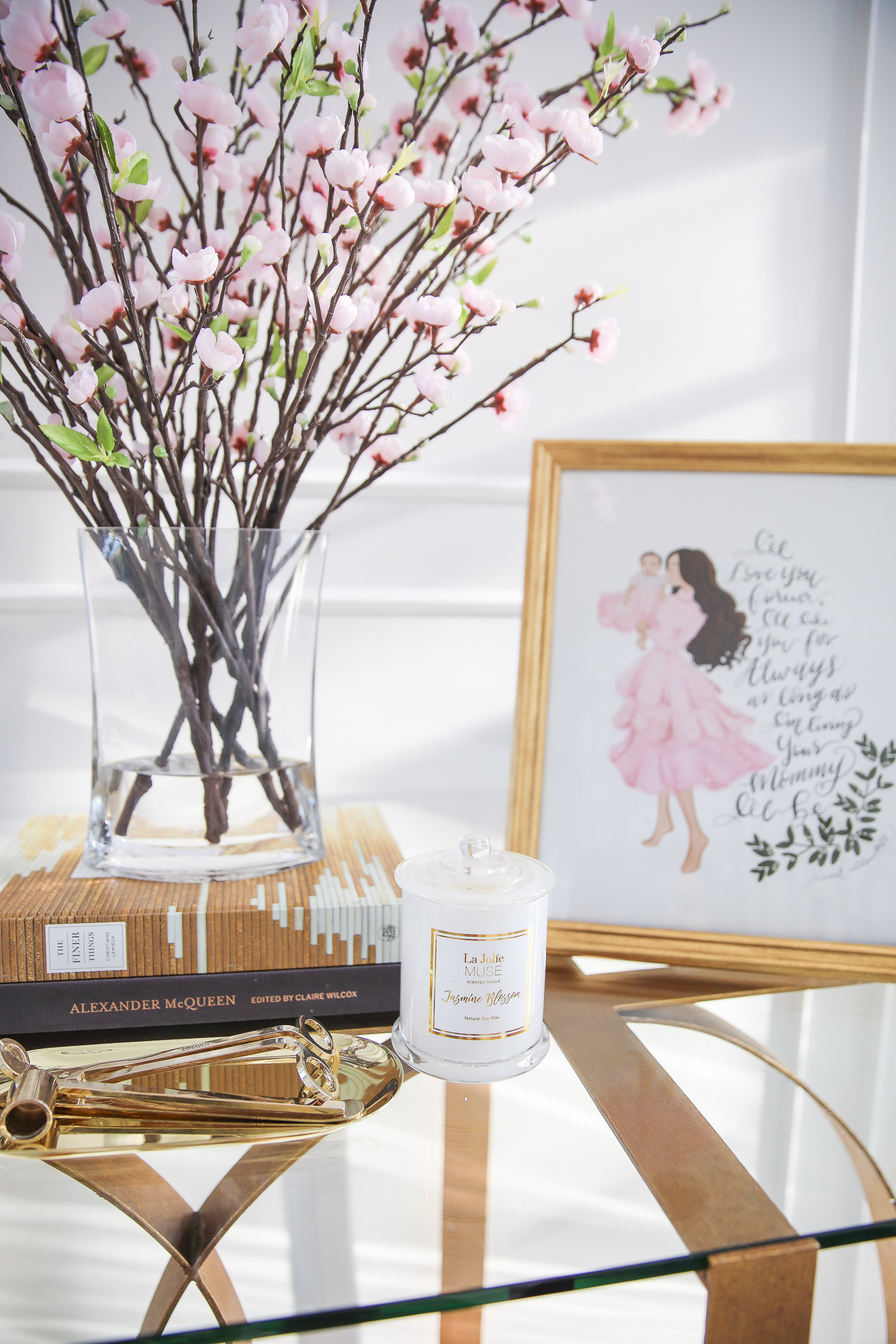 amazon must haves summer 2020, amazon home decor blog post, amazon luxury must haves, two story closet pinterest, emily gemma, closet organization | Amazon Favorites by popular US life and style blog, The Sweetest Thing: image of a Alexander McQueen coffee table book, Amazon The Finer Things book, Amazon La Jolie Muse Jasmine Scented candle, Amazon Lawrence Frames 11x14 Sutter Burnished Gold Picture Frame, and LUTAVOY Candle Accessory Set Candle Wick Trimmer Candle Wick Dipper Candle Snuffer Storage Tray 4 Packs Candle Care Kit Gift.