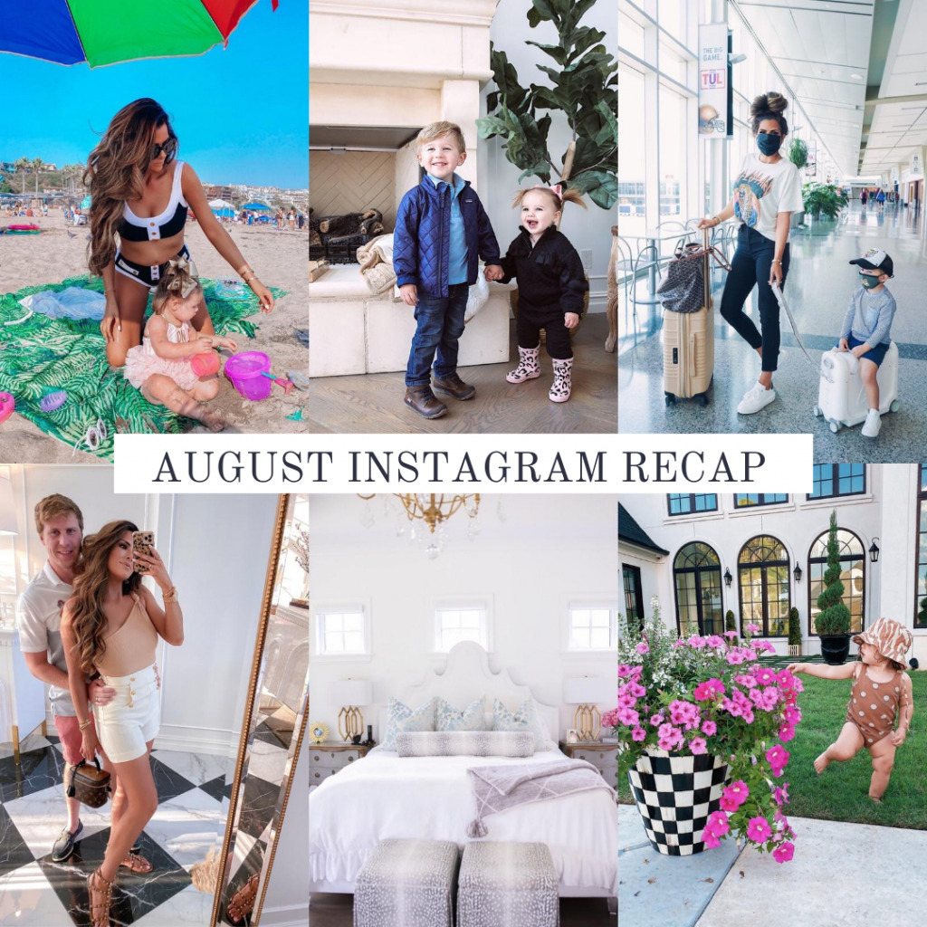 Instagram Recap by popular US life and style blog, The Sweetest Thing: collage image of family photos.