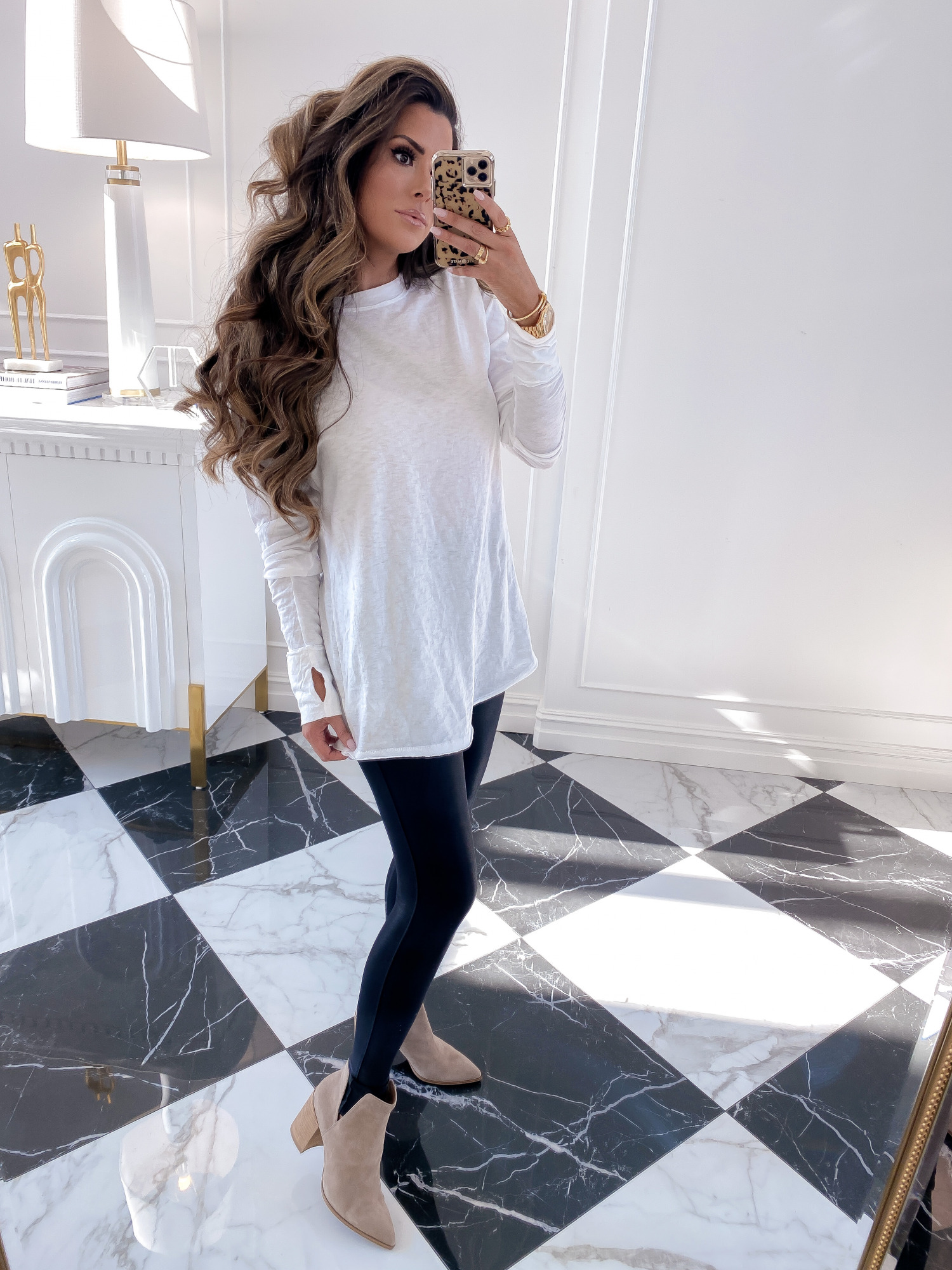 Nsale 2020 must have best of sale blog post 2020 | Nordstrom Anniversary Sale by popular US fashion blog, The Sweetest Thing: collage image of Emily Gemma wearing a Free People Arden Extra Long Cotton Top, Steve Madden Kaylah Pointed Toe Bootie, and Zella Live In High Waist Leggings.
