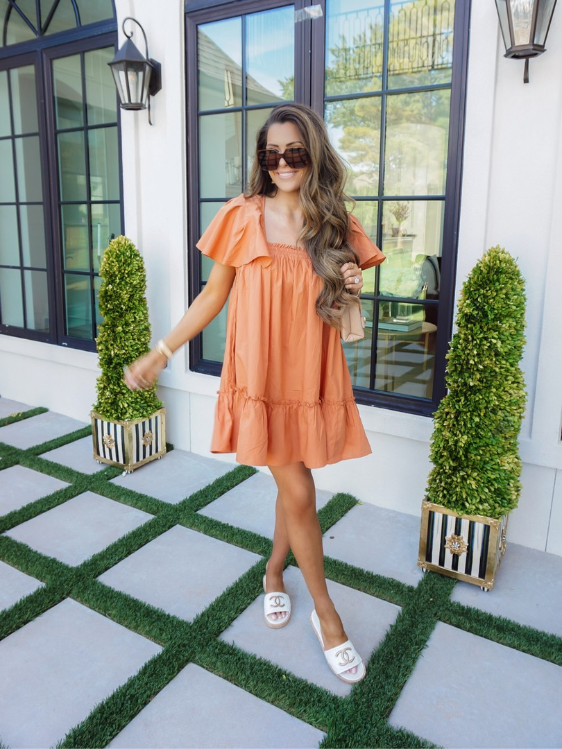 Summer fashion, Free People dresses, Emily Ann Gemma, Chanel Slides  Instagram Recap by popular US life and style blog, The Sweetest Thing: image of Emily Gemma wearing a Free People dress, Chanel slides and Saint Laurent glasses.