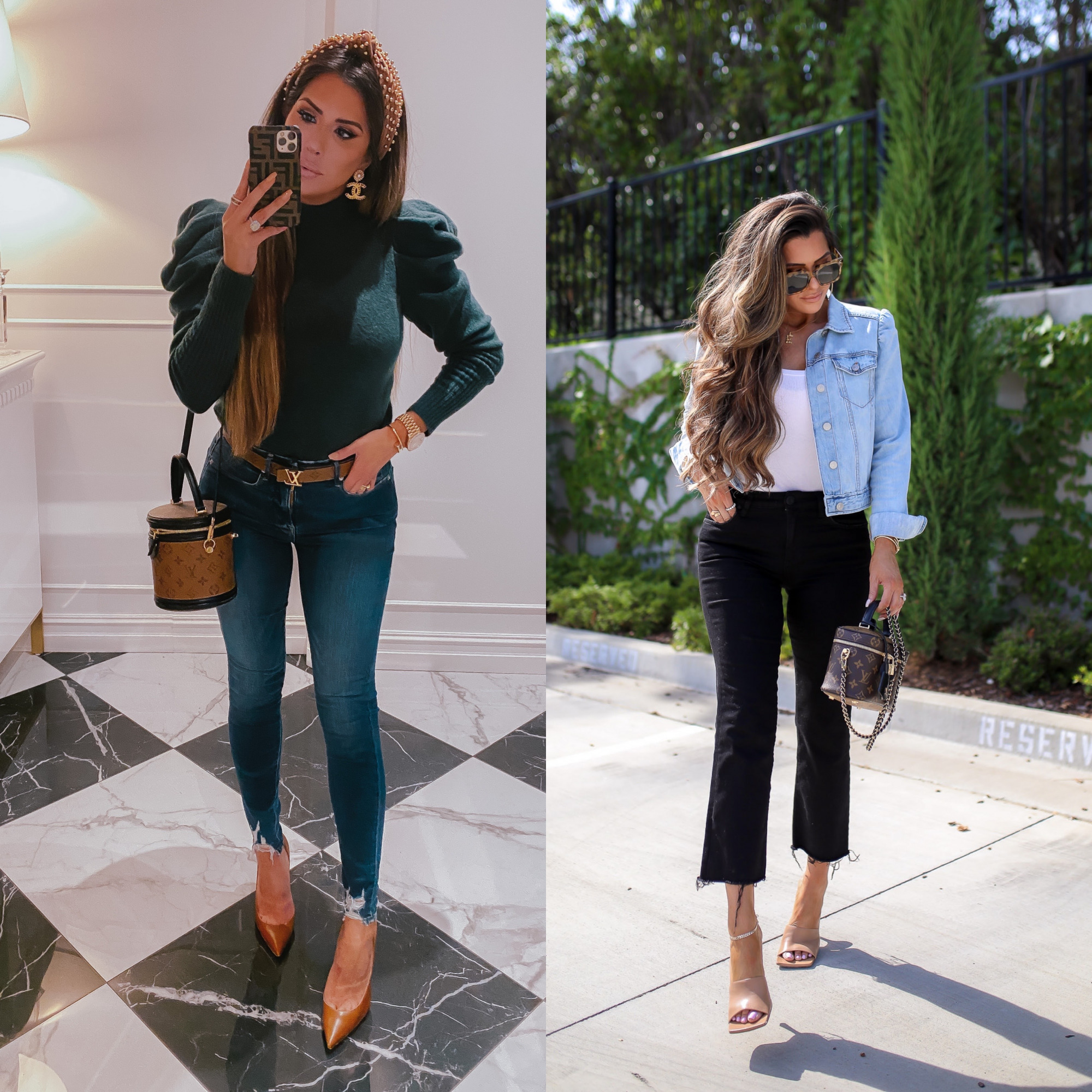 LTK day fall 2020, fall fashion outfit ideas pinterest 2020, emily ann gemma |  Sale Alert by popular US fashion blog, The Sweetest Thing: collage image of Emily Gemma wearing Express clothing.