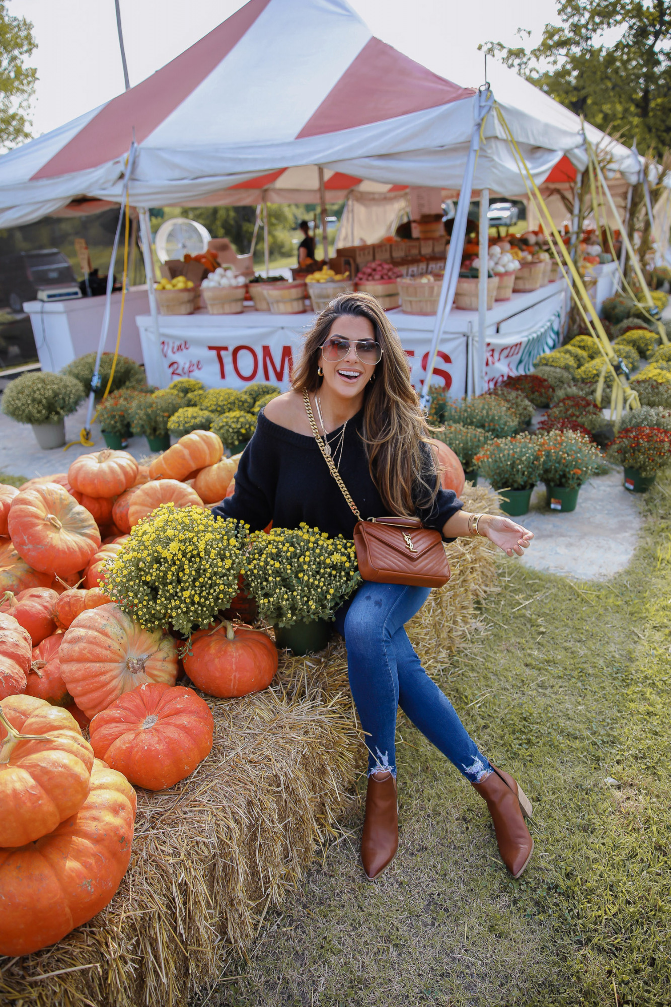 CLASSIC FALL OUTFIT featured by top US fashion blogger, The Sweetest Thing: fall fashion 2020 pumpkin patch mums, free people fall fashion 2020 nordstrom, emily anng gemma