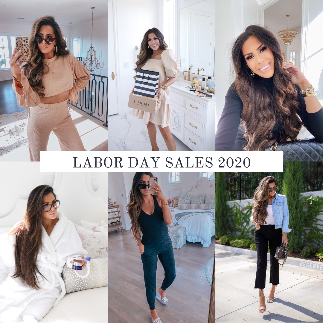 top labor day sales 2020, best labor day sales 2020 blog post, emily gemma | Labor Day Sales by popular US life and style blog, The Sweetest Thing: collage image of a woman wearing various fashionable outfits