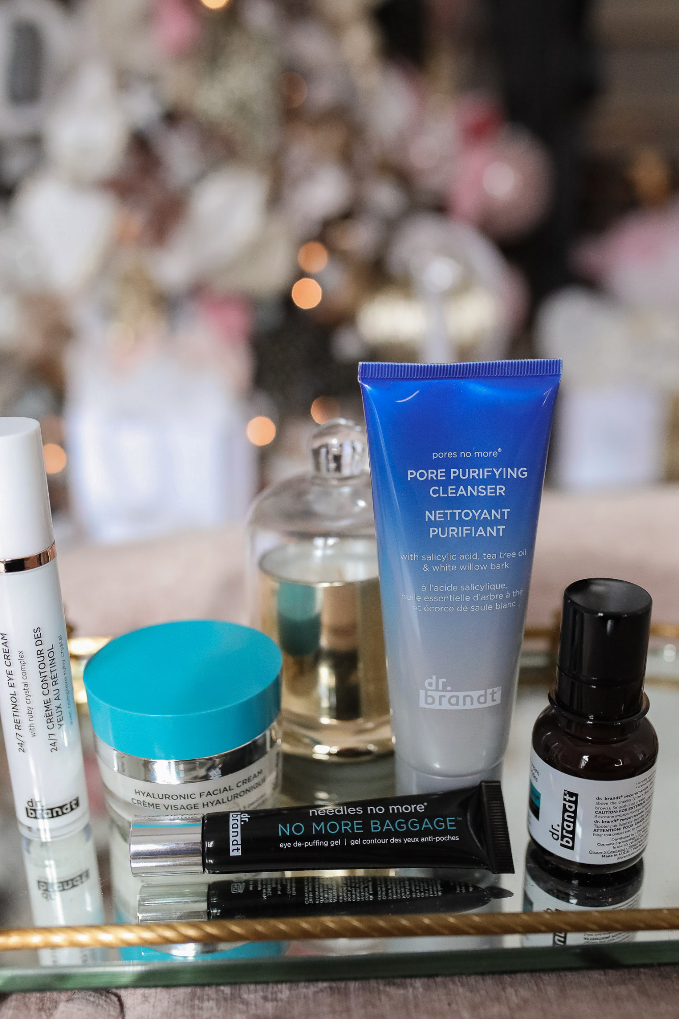 Dr Brandt review eye baggage, best dr brandt products, Dr Brandt Pores No More, Emily Gemma |Dr. Brandt by popular US beauty blog, The Sweetest Thing: image of Dr. Brandt skincare products.