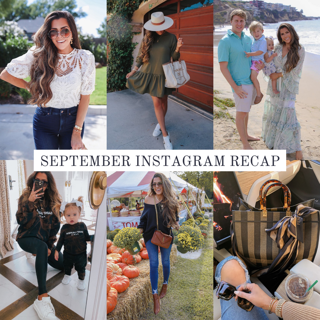 Instagram Recap by popular US lifestyle blog, The Sweetest Thing: collage image of Emily Gemma and her family.