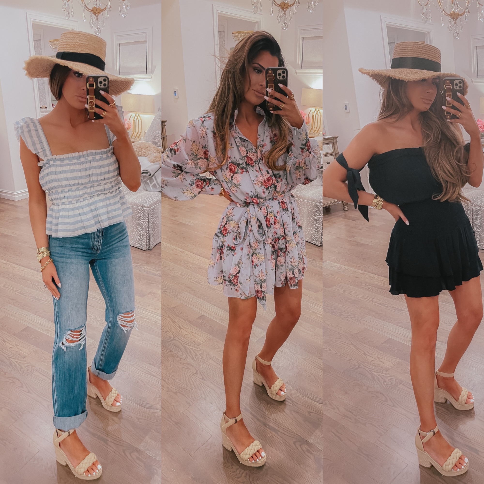 Vici Try On by popular US fashion blog, The Sweetest Thing: collage image of a woman wearing various Vici clothing items.