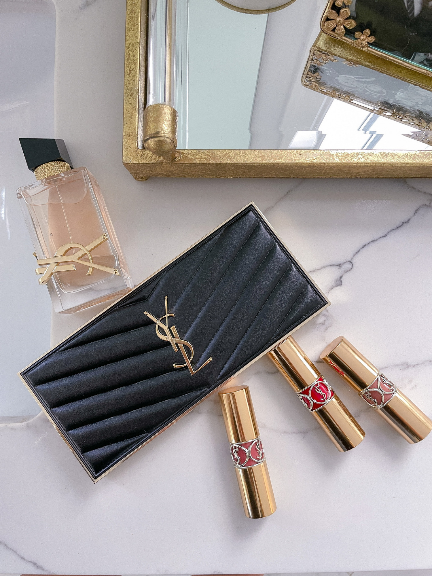 YSL-beaute-review-lipstick-rouge-volupte-shine-summer-lipstick-ltk-day-sale | June Instagram Recap by popular US fashion blog, The Sweetest Thing: image of YSL lipstick.