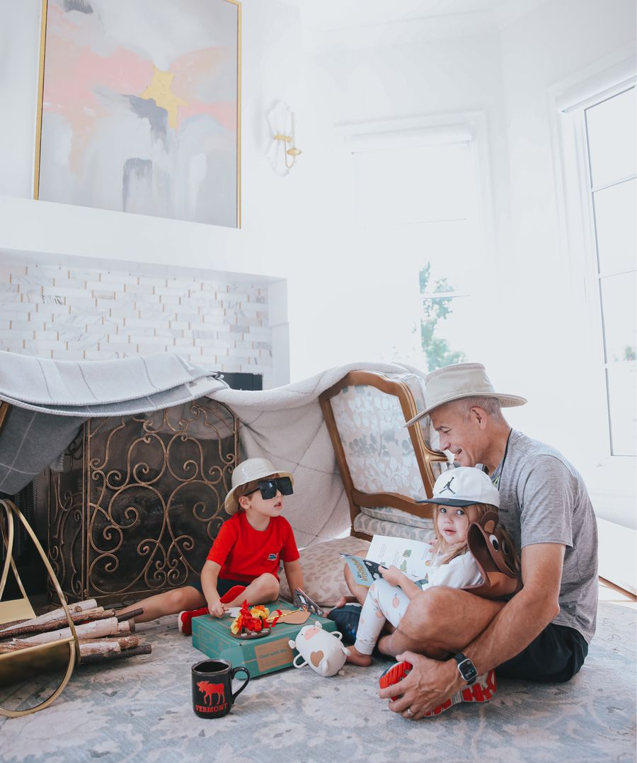 Gemma Gang, Luke Gemma, Sophia Gemma, KiwiCo., Bobo Dean, Activities for kids, things to do with grandpa, educational toys for kids   Instagram Recap by popular US life and style blog, The Sweetest Thing: image of two kids and their grandpas playing with a Kiwi Co crate box.