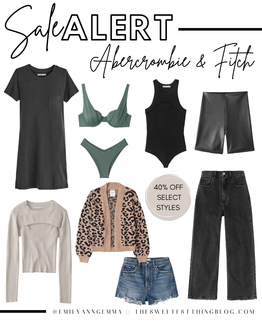 Top Labor Day Sales by popular US life and style blog, The Sweetest Thing: collage image of Abercrombie and Fitch clothing.