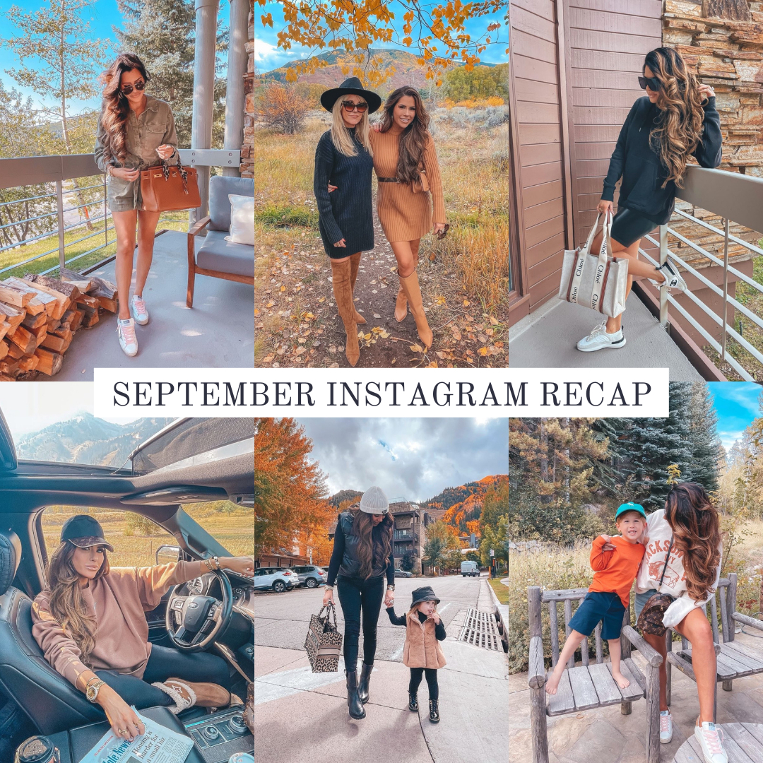 September 2021 Instagram Recap featured by top US fashion blogger, Emily Gemma of The Sweetest Thing